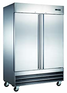 "54"" Commercial Reach In Stainless Steel Refrigerator CFD-2RR"