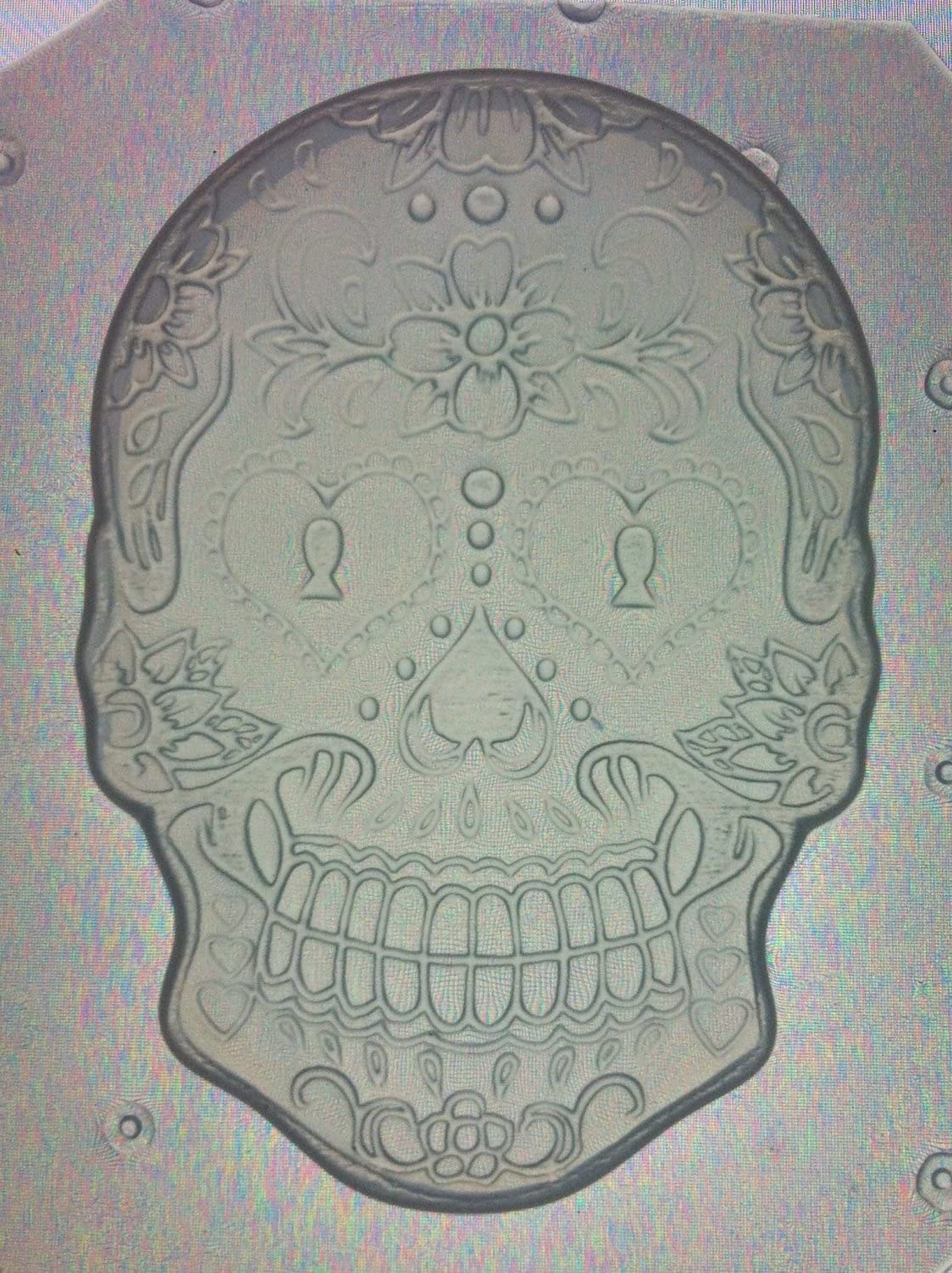 Flexible Resin Mold Day of The Dead Sugar Skull (Large: 2.75