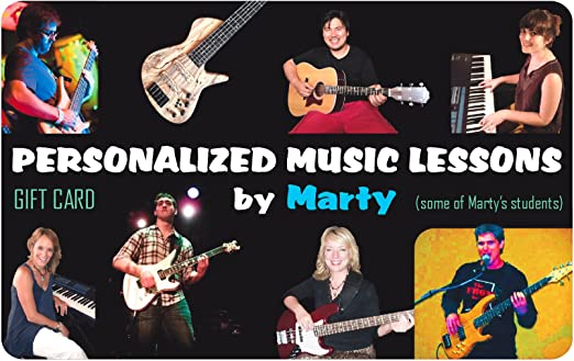 Personalized Music Lesson Gift Card