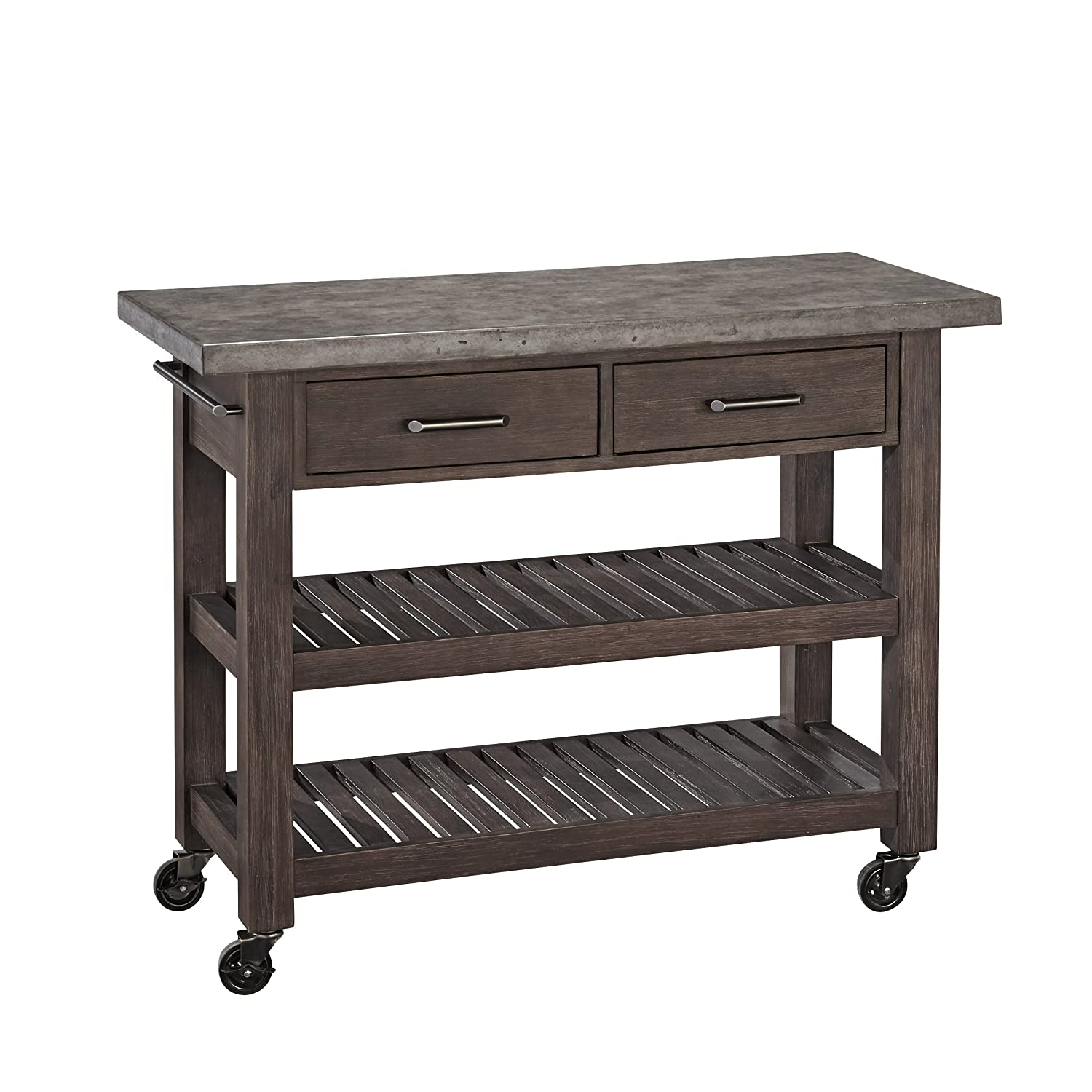 Amazon.com   Home Styles Concrete Chic Kitchen Cart   Kitchen Islands U0026  Carts