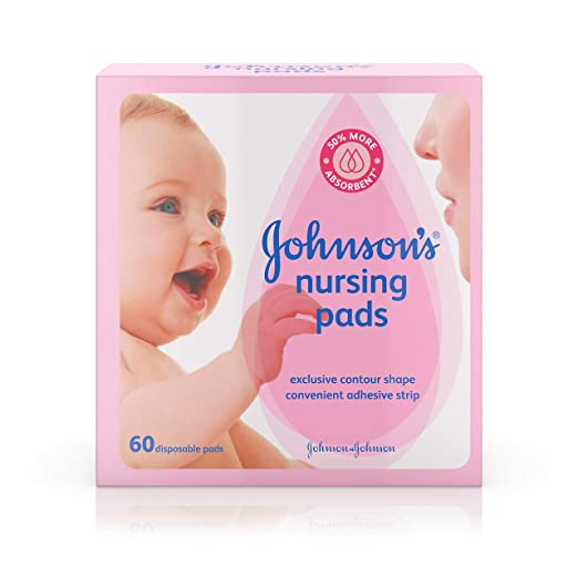 Johnson's Disposable Nursing Pads with Natural Cotton and Natural Contour Shape