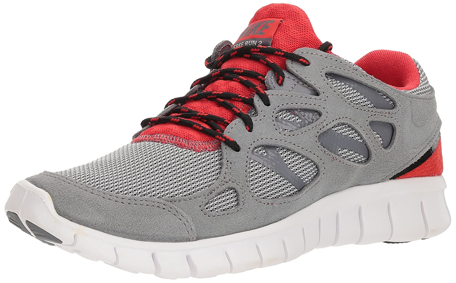 competitive price 477b6 1b738 Nike Men's Free Run 2 Cool Grey/Black/Challenge Red/Cool Red ...