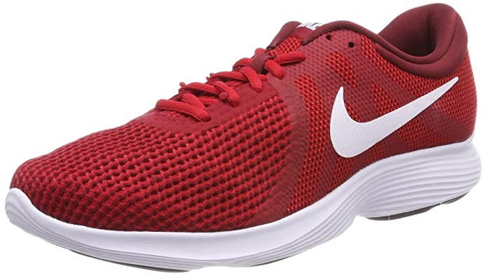 Nike Revolution 4 Herren rot mit weißem Streifen (Gym Red/White-team Red-black)