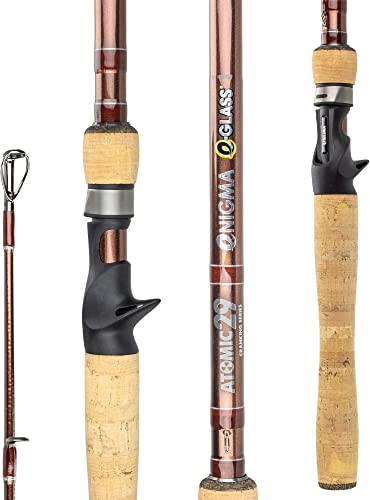 Enigma Fishing Atomic29 Pro Tournament Series High-Performance Bass Fishing Rods, Japanese Toray Graphite High Modulus 30 Ton E-Glass 1 Pc Blanks, 9 Specific Lengths Actions, Casting
