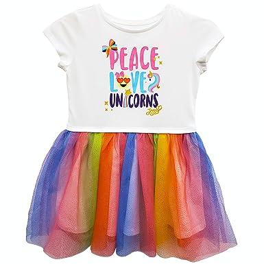 58250964 Amazon.com: JoJo Siwa Girls' Peace Love Unicorns Tutu Dress with Tulle  Skirt: Clothing