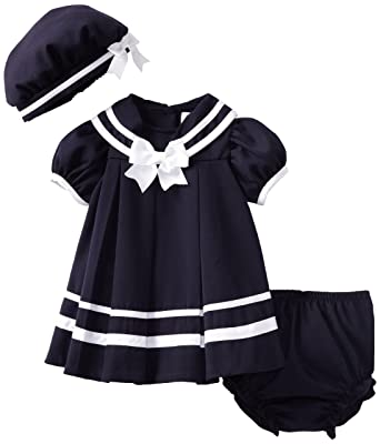 7292d615ac50 Amazon.com: Rare Editions Baby Girls Newborn Nautical Dress: Infant And  Toddler Special Occasion Dresses: Clothing