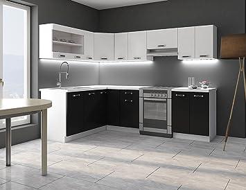Eckküche Küche Omega 170x250 cm Küchenzeile Küchenblock Winkelküche ...