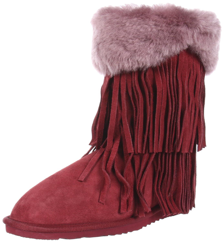 17746040014 Koolaburra Women's Haley Fur Fringe Boot
