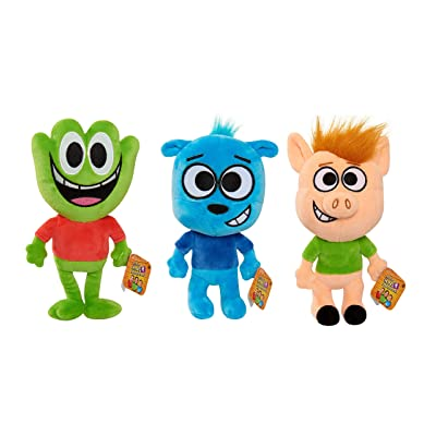 HobbyKids Adventures HobbyFrog, HobbyBear and HobbyPig 6-Inch (Each) Plush Figures - Set of 3: Toys & Games