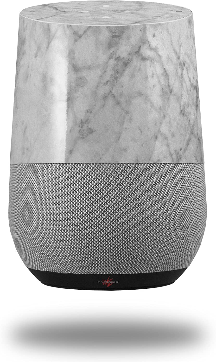 Decal Style Skin Wrap for Google Home Original - Marble Granite 09 White Gray (Google Home NOT Included) by WraptorSkinz