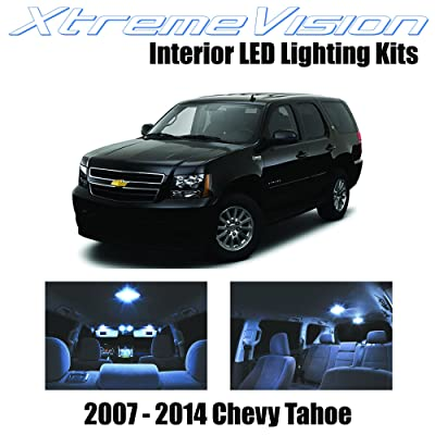 XtremeVision Interior LED for Chevrolet Tahoe 2007-2014 (12 Pieces) Cool White Interior LED Kit + Installation Tool: Automotive
