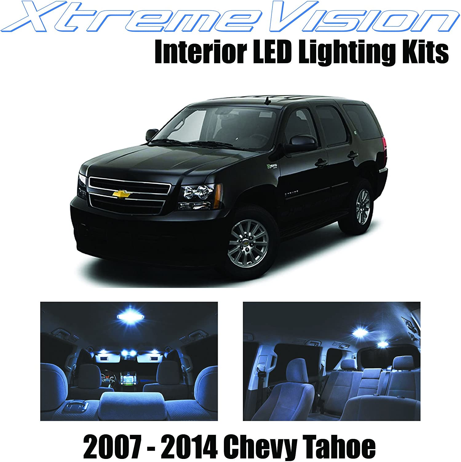 XtremeVision Interior LED for Chevrolet Tahoe 2007-2014 (12 Pieces) Cool White Interior LED Kit + Installation Tool