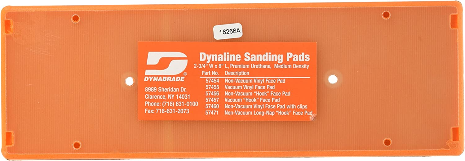 2-3//4-Inch by 8-Inch Dynabrade 57471 Non-Vacuum Dynaline Disc Pad