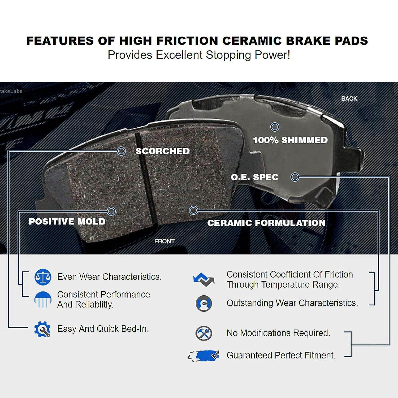 Fit 2004-2006 Scion xA xB Front Sport Drill Slot Brake Rotors+Ceramic Brake Pad