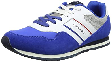 Hackett Pro Team Runner, Baskets Homme, Bleu (Navy), 43 EUHackett