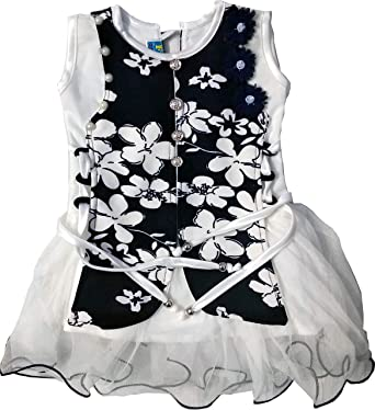 693139149 Designer Frock Small Girl Kids Wear Frocks, Baby Girl Dress, Gifting Dress  Black-White: Amazon.in: Clothing & Accessories