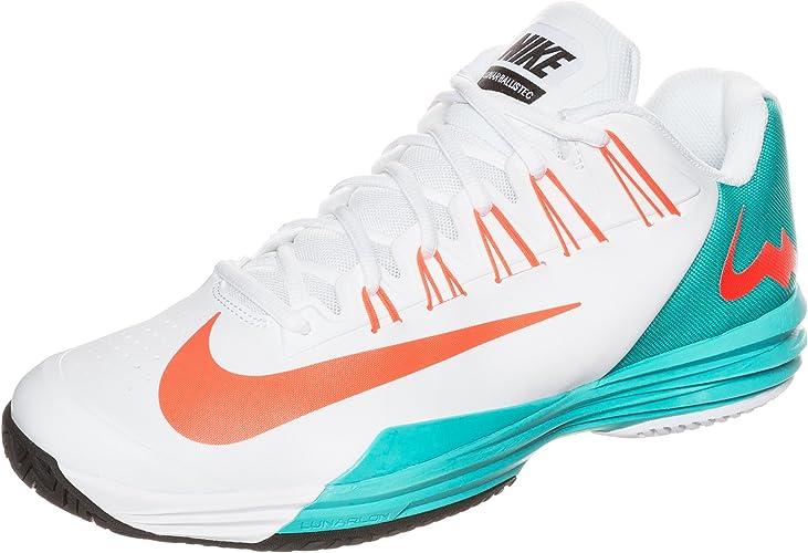 telescopio Empotrar Melancolía  Nike Lunar Ballistec Men's Tennis Shoe, White/Blue/Orange, UK12:  Amazon.co.uk: Shoes & Bags