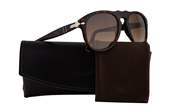 8d852937311 Image Unavailable. Image not available for. Color  Persol PO0649S Sunglasses  Havana w Brown Gradient ...