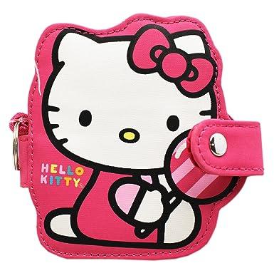 Amazon.com: hello kitty rosa SNAP-Button cosméticos ID funda ...