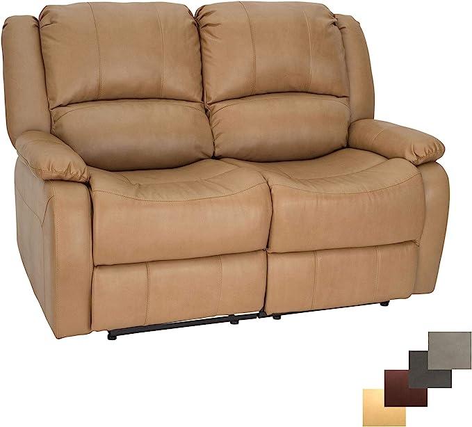 RecPro Charles Double Recliner RV Sofa, Wall Hugger Recliner