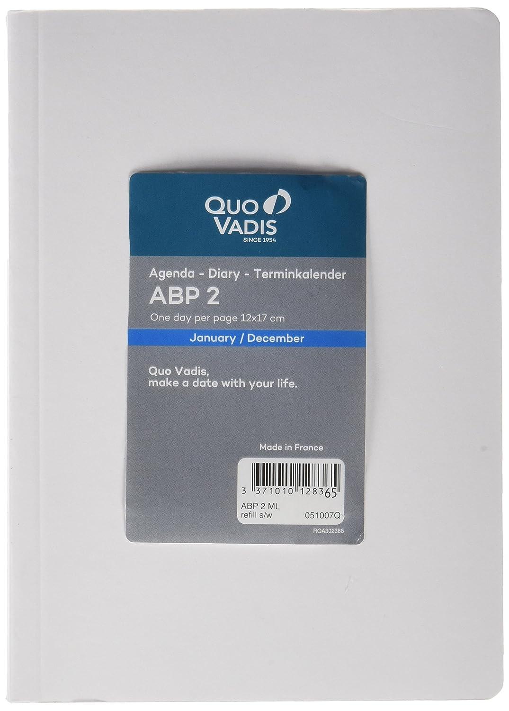 Quo Vadis 051042Q - Agenda 2020 ABP 2 Multilingüe Impala, Color Negro