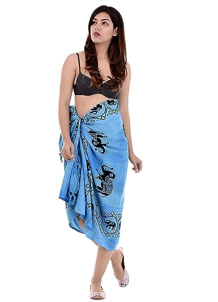 c8856c6d5ba9c Handicraft-Palace Women s Cotton Elephant Printed Sarong (PCS-90 ...