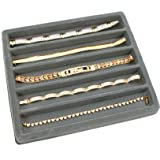 FindingKing 5 Gray 5 Slot 1/2 Size Jewelry Display