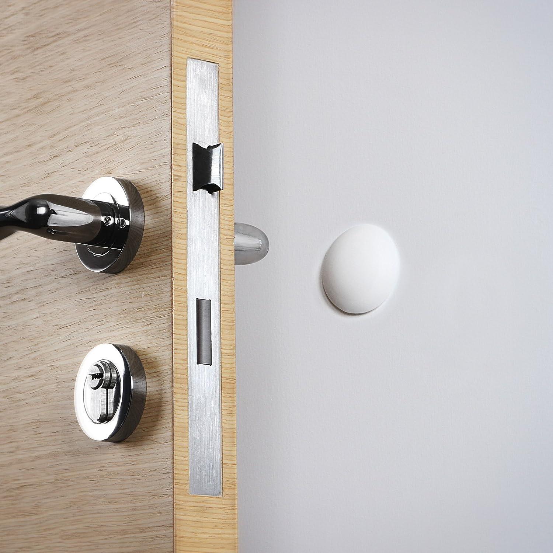 Jago Juego de 10 topes de pared para puertas blancos: Amazon.es: Hogar