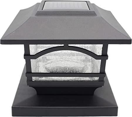 front facing davinci premium solar led post cap lights