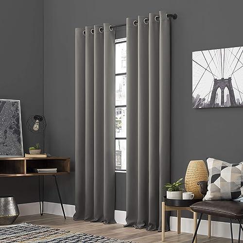 Sun Zero Soho 2-Pack Energy Efficient Blackout Grommet Curtain Panel Pair