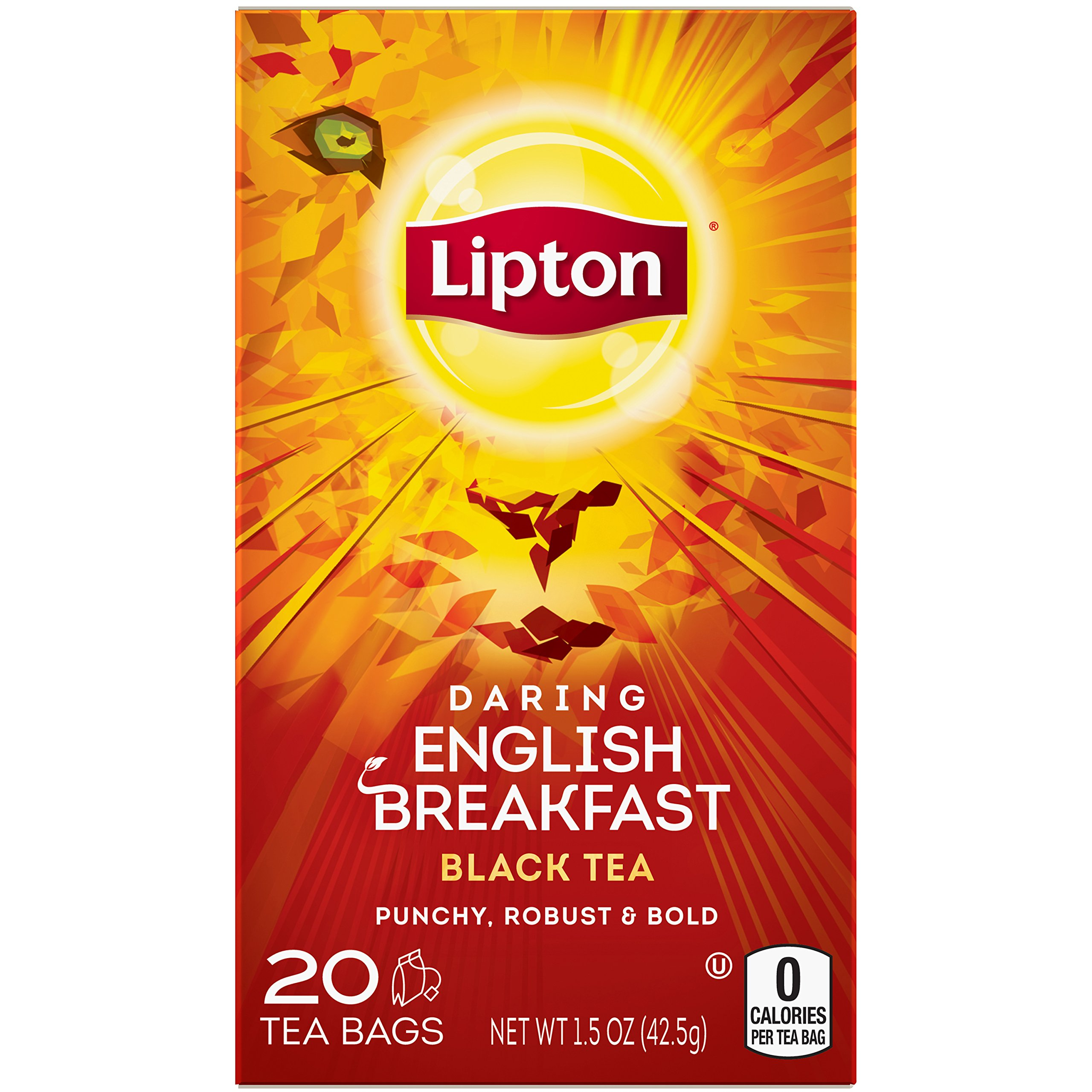 Lipton Black Tea Bags Daring English Breakfast 20 ct - Pack of 6 by Lipton