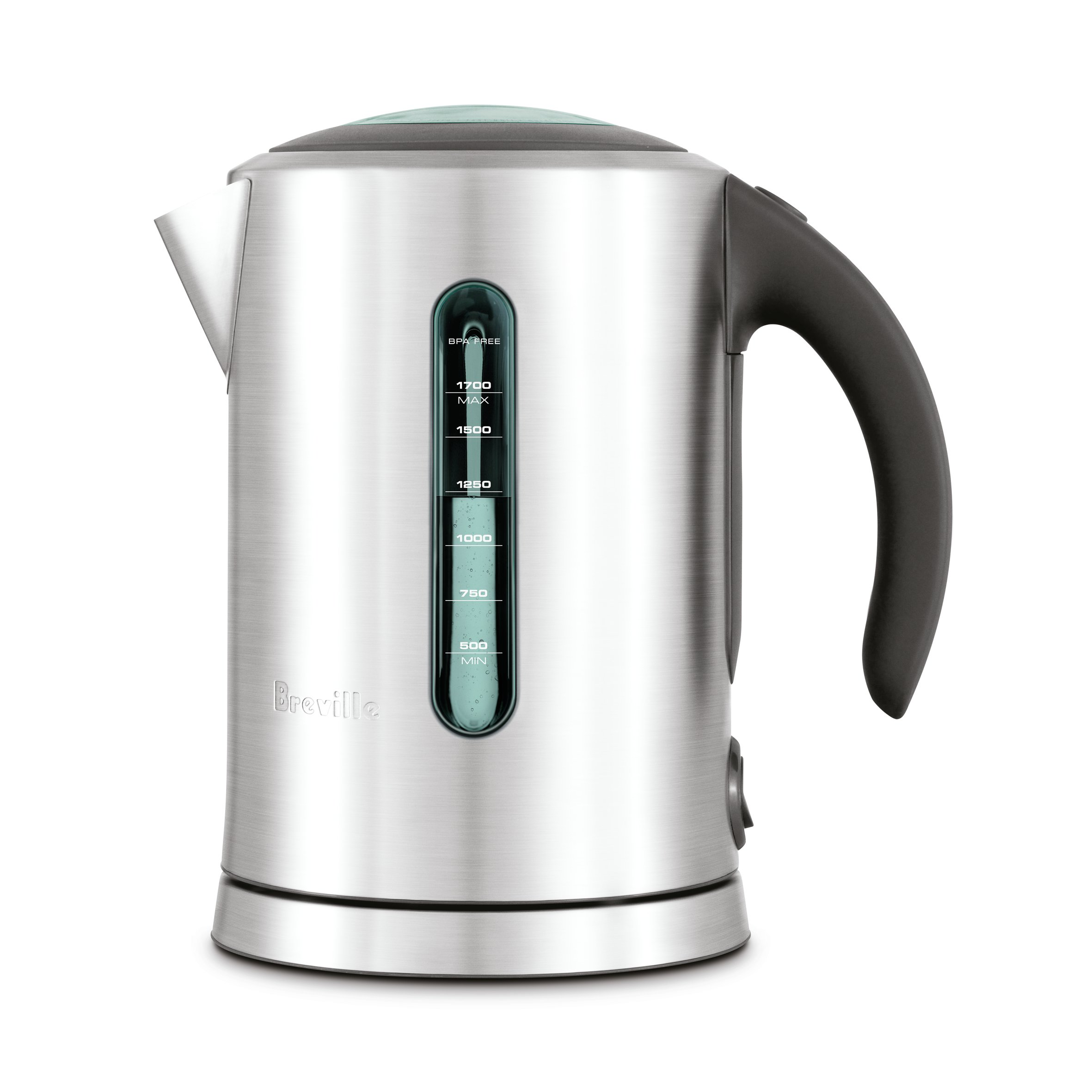 Breville BKE700BSS the Soft Top Pure Electric Tea Kettle, Silver