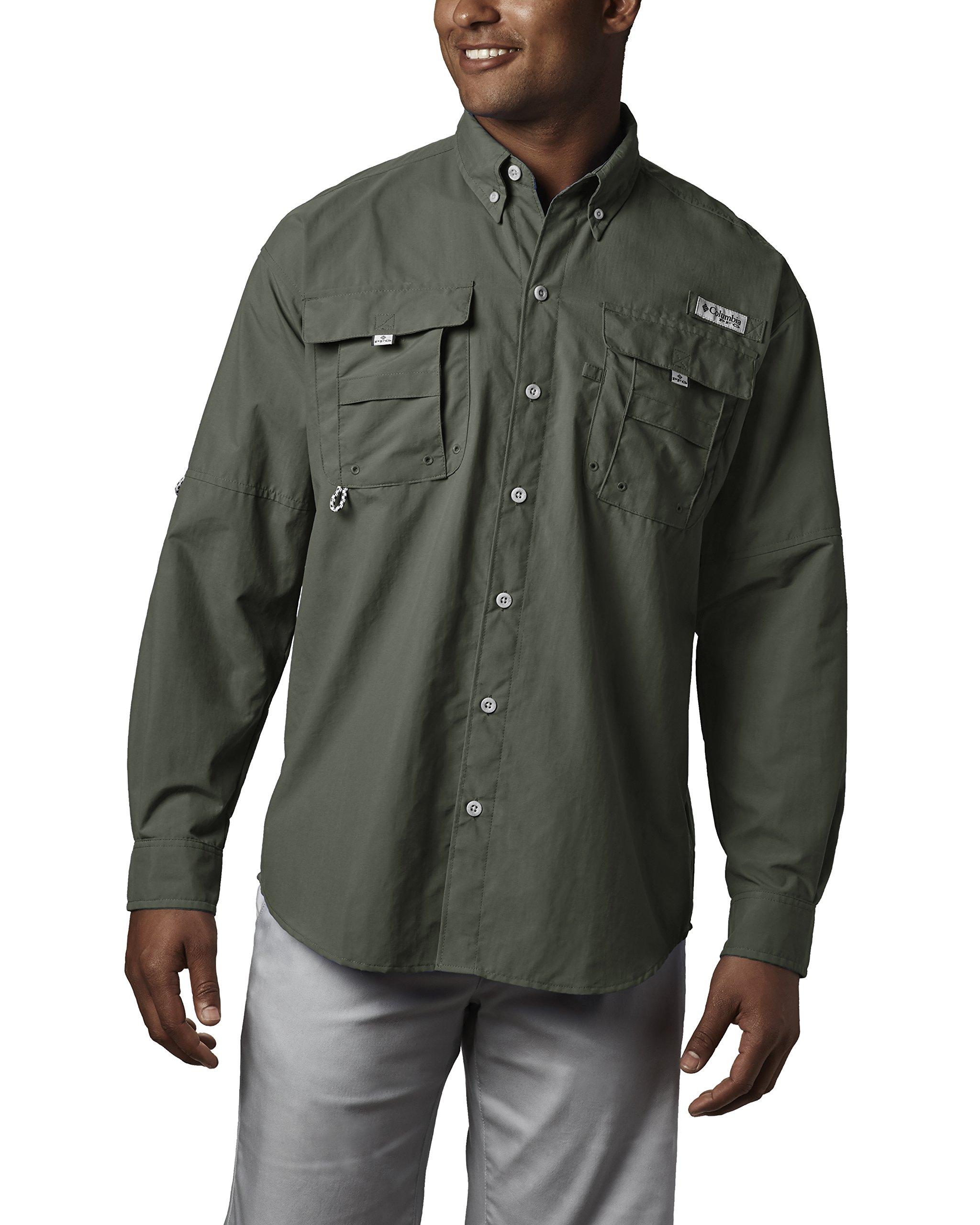 Columbia Men's Bahama II Long Sleeve Shirt, Cypress, Large