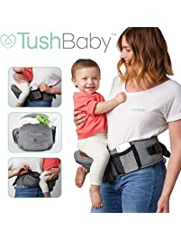 TushBaby The Only Safety Certified Hip Seat Baby Carrier - As Seen On Shark Tank-Adjustable, Machine Washable, Ergonomic...