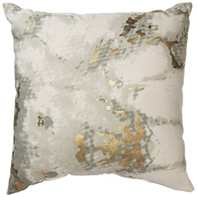 Urban by Design Metallic Marble Foil Printed Decorative Throw Pillow with Inner Cushion 12x12: Home & Kitchen