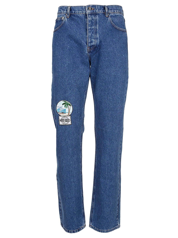 Kenzo Men's F765PA5022EC76 bluee Polyester Jeans