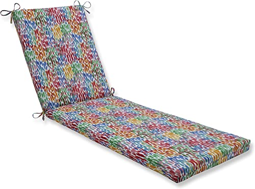 Pillow Perfect Outdoor/Indoor Make It Rain Zinnia Chaise Lounge Cushion