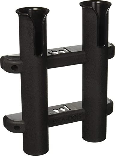Sea Dog 325029-1 Two Pole Side Mount Rod Holder, Black