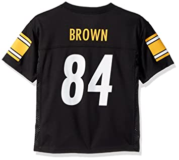outlet store 4efbb 2b2a1 Outerstuff Antonio Brown Pittsburgh Steelers #84 NFL Youth Mid-tier Jersey  Black