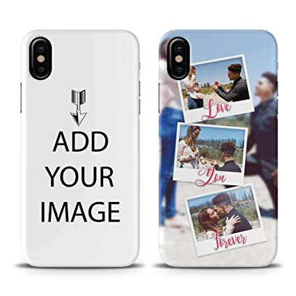 huge selection of 0bdf6 55f83 Personalize Custom iPhone X Case, Make Design Your own iPhone X Back Cover  Case, Create Your Own DIY Collage Text Logo HD Photos iPhone X Case, ...