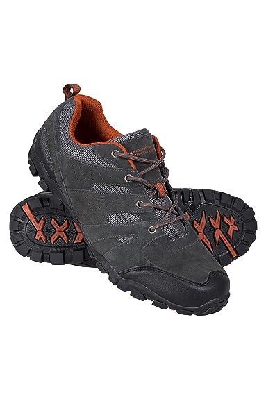 Mountain Warehouse Zapatillas Outdoor para Hombre - Ante, Zapatillas de montaña Transpirables, Resistentes,