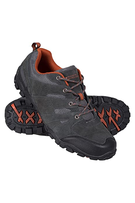 1f57f9984f9f4 Mountain Warehouse Outdoor Men's Walking Shoes - Suede, Mesh Upper & Lining  with 100% Rubber Sole, Cushioned Footbed - Great for Layering