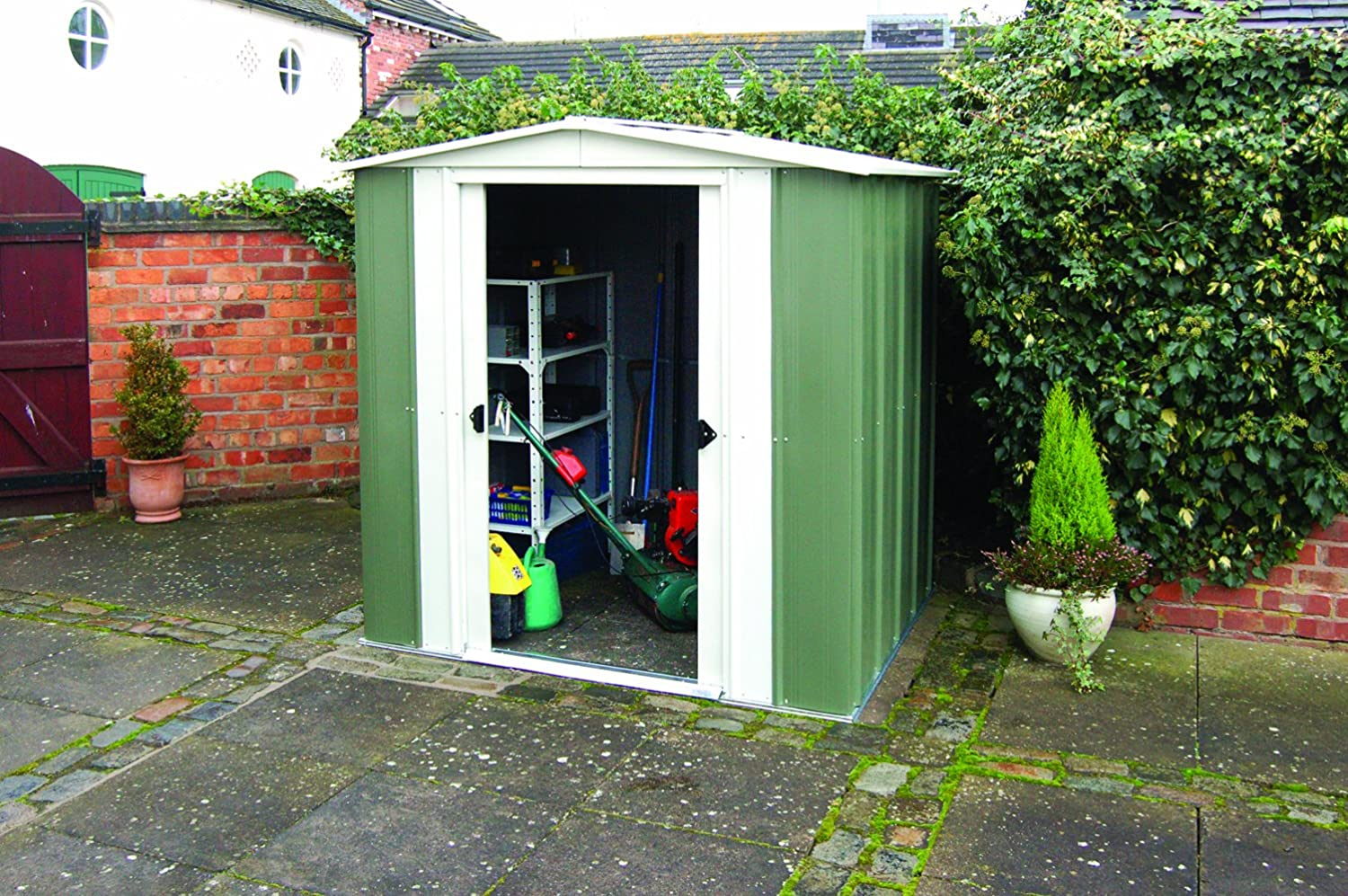Rowlinson X Metal Apex Shed Amazon Co Uk Garden Outdoors