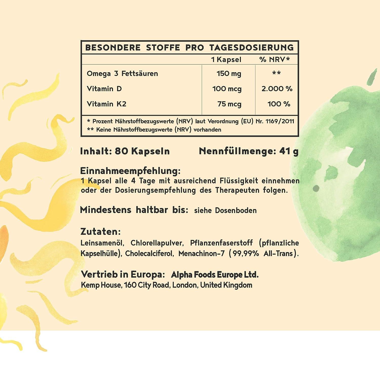 Vitamin D3 K2 Und Pflanzliche Omega 3 Fettsäuren Sonnenvitamine