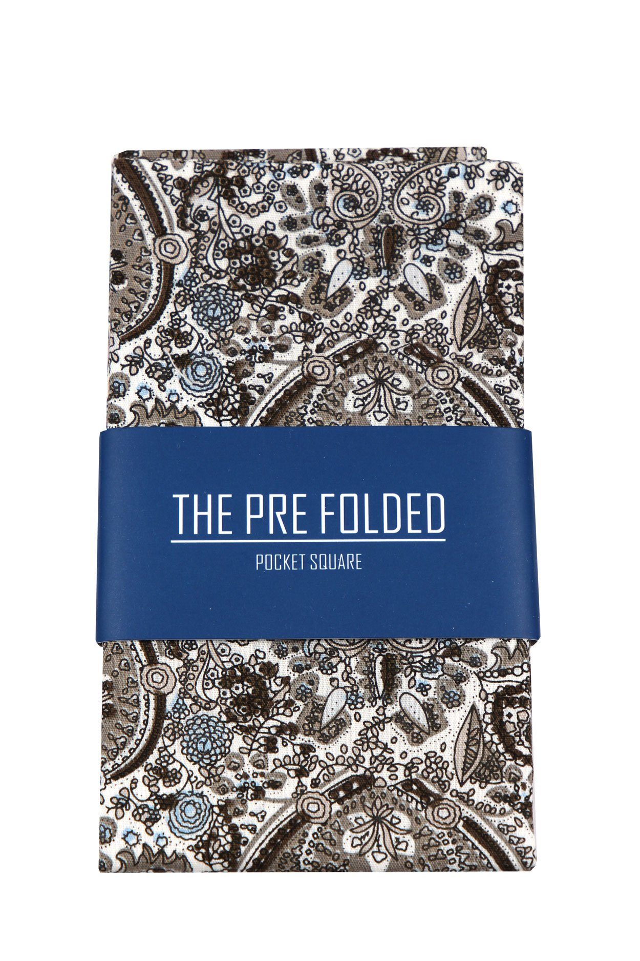 Pre-Folded Fashion Pocket Square Hanky for Men - Solid Dot Paisley Plaid Folded Hankies