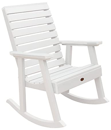 Highwood Synthetic Wood Weatherly Rocking Chair White