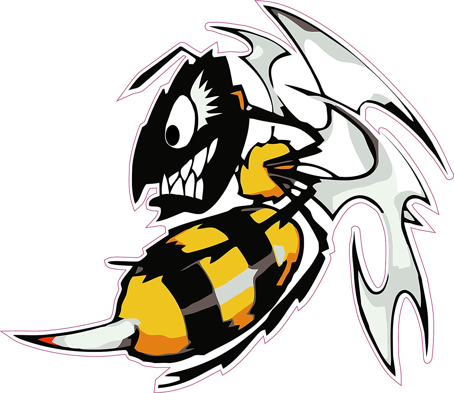 amazon com ski doo killer bee large 10 decal free shipping in the rh amazon com Killer Bee Stings clip art killer bee
