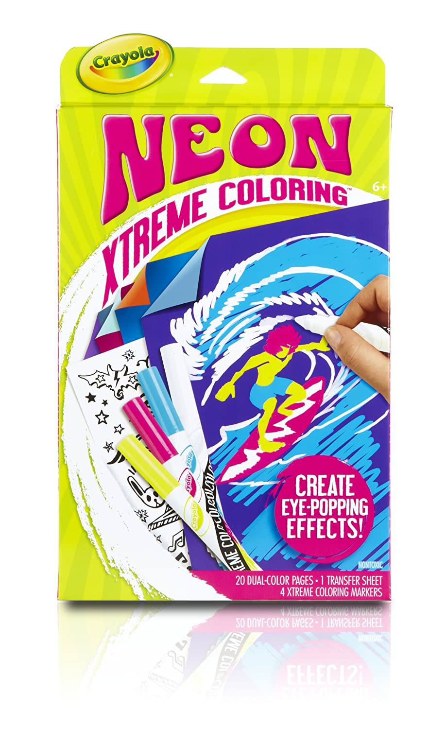 Amazon.com: Crayola Neon Extreme Coloring Kit: Toys & Games
