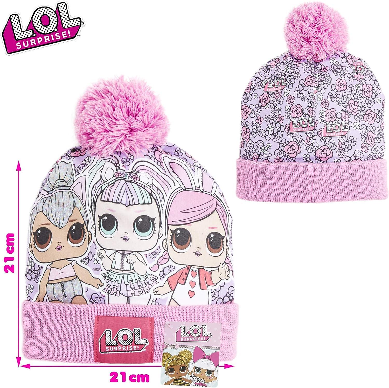 für Mädchen 5-10 Jahre Neu LOL Surprise Kindermütze Bommelmütze gefüttert l.o.l