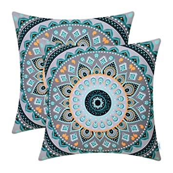 Amazon.com: CaliTime - Juego de 2 fundas de almohada de lona ...